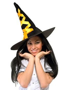 Шляпа ведьмы оранжевая