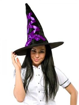 Шляпа ведьмы фиолетовая
