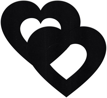 Украшение на соски  Nipple Stickers в форме сердец