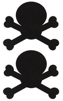 Украшение на соски  Nipple Stickers в форме черепов