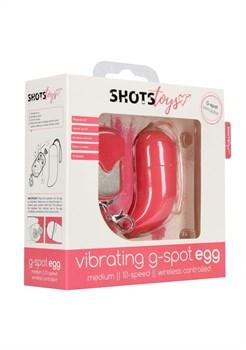 Розовое виброяйцо Vibrating G-spot Egg medium с пультом ДУ