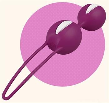 Фиолетовые вагинальные шарики Smartballs Duo
