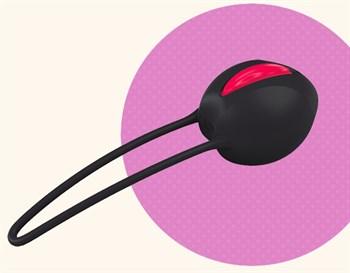 Черный вагинальный шарик Smartballs Uno