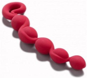 Красная анальная цепочка Bendybeads - 26,2 см.