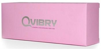 Розовый клиторальный вибромассажёр Qvibry