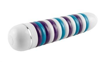 Керамический ребристый вибромассажер CERAMIX №8 - 17,5 см.