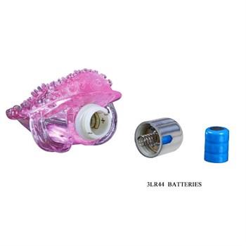 Розовая вибронасадка на пальчик для стимуляции клитора