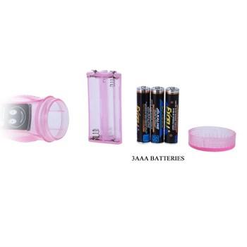 Розовый вибратор с анальным и клиторальным отростками Intimate Tease - 22 см.