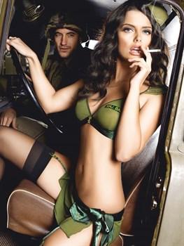 Игровой костюм  Армейская обольстительница : топ, мини-юбка и пилотка