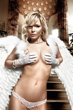 Белые перчатки с кружевными манжетами Back in Heaven