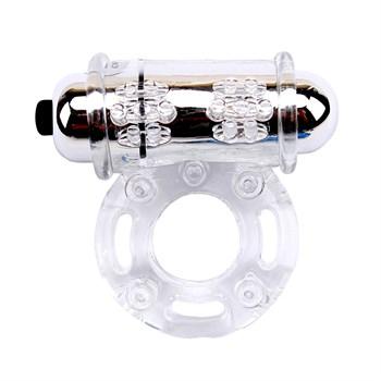 Прозрачное вибрирующее кольцо Stay Hard