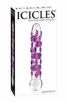 Стеклянный фаллоимитатор Icicles №7 - 17,8 см.