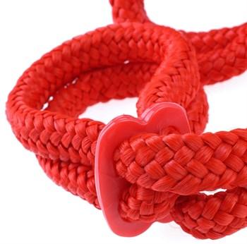 Красные верёвочные оковы на руки или ноги Silk Rope Love Cuffs