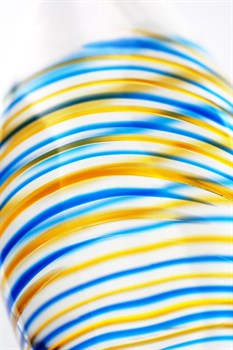 Стеклянный прозрачный фаллоимитатор с двухцветным кончиком - 22 см.
