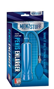 Синяя вакуумная помпа MENZSTUFF PENIS ENLARGER