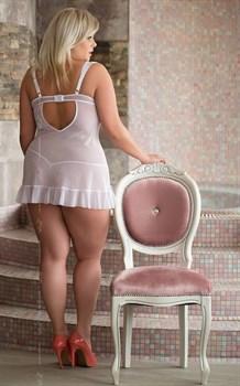 Сексапильная сорочка Blanca в комплекте с трусиками-стринг