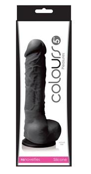 Черный фаллоимитатор Pleasures 5  Dildo - 17,8 см.