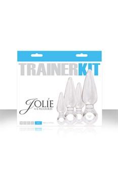 Набор из 4 прозрачных анальных пробок Jolie Trainer Kit