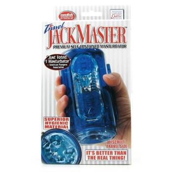Голубой гелевый супер-мастурбатор JackMaster Masturbator