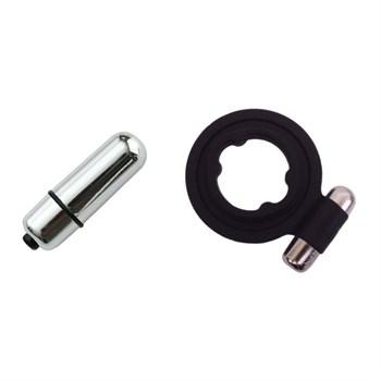 Чёрноё сииликоновое кольцо с вибрацией Bathmate Pleasure Ring