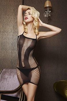 Платье с вставками из крупной сетки