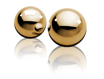 Вагинальные шарики Ben-Wa Balls золотистого цвета