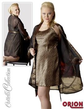 Домашний комплект: леопардовая сорочка и халатик