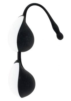 Чёрно-белые силиконовые вагинальные шарики Vibe Therapy Terah
