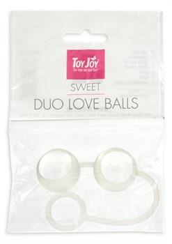 Стеклянные вагинальные шарики Duo Love Dalls на силиконовой сцепке