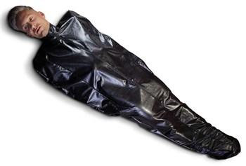 Чёрный мешок без подкладки для фетиш-фантазий