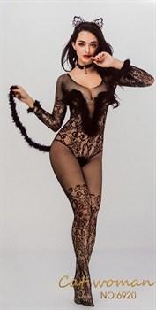 Сексуальный костюм кошечки с ушками