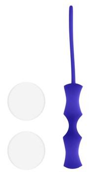 Белые вагинальные шарики Ben Wa Small в синей оболочке
