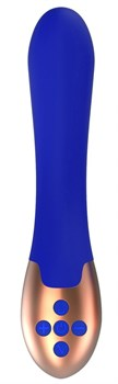 Синий вибратор Posh с функцией нагрева - 20 см.