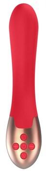 Красный вибратор Posh с функцией нагрева - 20 см.