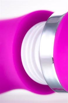 Лиловый вибратор с клиторальным стимулятором JOS JOLY - 19,6 см.