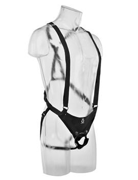 Страпон-система с кофейной насадкой 10  Hollow Strap-On Suspender System - 25 см.
