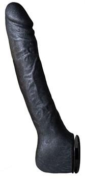 Чёрная фаллическая насадка BLACK BENT 3 - 18 см.