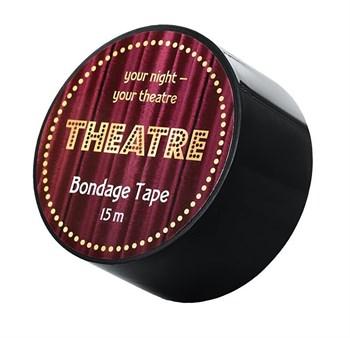 Черный бондажный скотч TOYFA Theatre - 15 м.