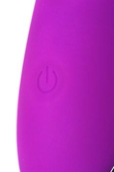 Фиолетовый вибратор с ресничками JOS DESI - 18,5 см.