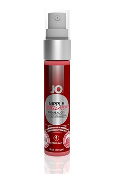 Возбуждающий гель JO Nipple Titillator Electric Strawberry - 30 мл.