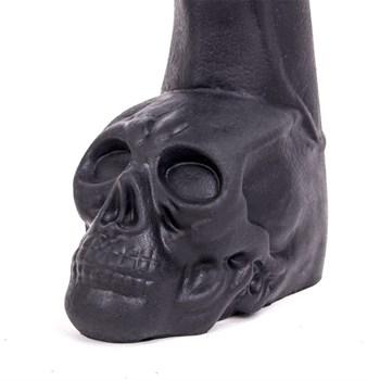 Черный фаллоимитатор-гигант с черепом Cock with Skull - 28 см.