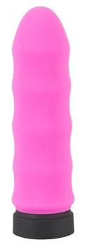 Розовый мини-вибратор Power Vibe Wavy - 9,7 см.