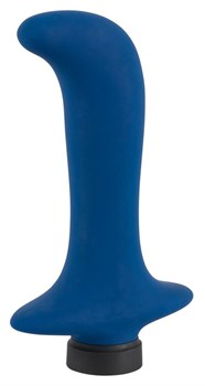 Синий вибромассажер простаты Power Vibe Backy - 12,8 см.