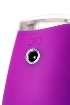 Фиолетовый клиторальный стимулятор с ресничками JOS ALICIA - 15,5 см.