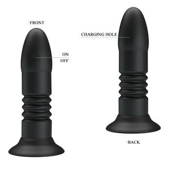 Черный анальный вибростимулятор Magic Jingers с пультом ДУ - 13,8 см.
