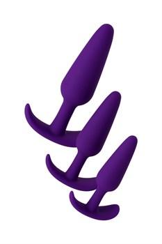 Набор из 3 фиолетовых анальных втулок A-toys