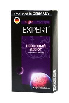 Светящиеся в темноте презервативы Expert  Неоновый дебют  - 8 шт.