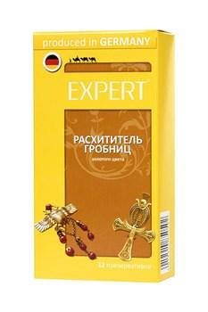 Золотистые презервативы Expert  Расхититель гробниц  - 12 шт.