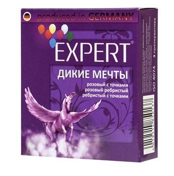 Презервативы с точками и ребрами Expert  Дикие мечты  - 3 шт.