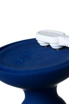 Синяя анальная вибровтулка OPlay Prime - 12 см.